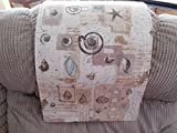 Chair Cover Recliner Pad Headrest Furniture Protector SeaShells Canvas 14X30 Sofas Loveseats Theater Seating Chaises
