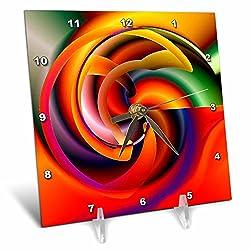 3dRose LLC Digital Artwork Design 7 Desk Clock, 6 by 6-Inch