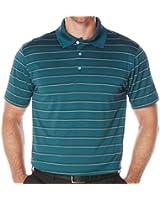 PGA Tour Mens Airflux Textured Stripe Polo Shirt Green XL