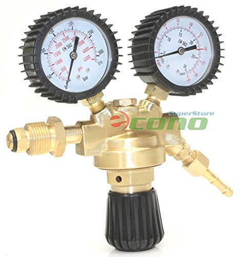 Dual Welding Gas Cylinder Brass Regulator Gauges Tig Mig ...