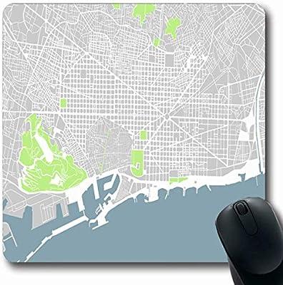 Luancrop Alfombrillas para computadoras Centro Gris Mapa de ...