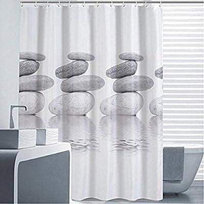 Goldbeing Duschvorhang 200x200 Textil Grau Pebble Schimmelresistenter Und Wasserabweisend Shower Curtain Mit 12 Duschvorhangringen 200200cm Amazonde