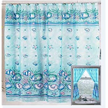 Amazon.com: Tropical Fish Shower and Window Curtain Set: Home & Kitchen