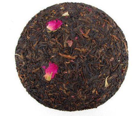 Rose flower mixed with Pu erh tea cake 600 grams by JOHNLEEMUSHROOM RESELLER