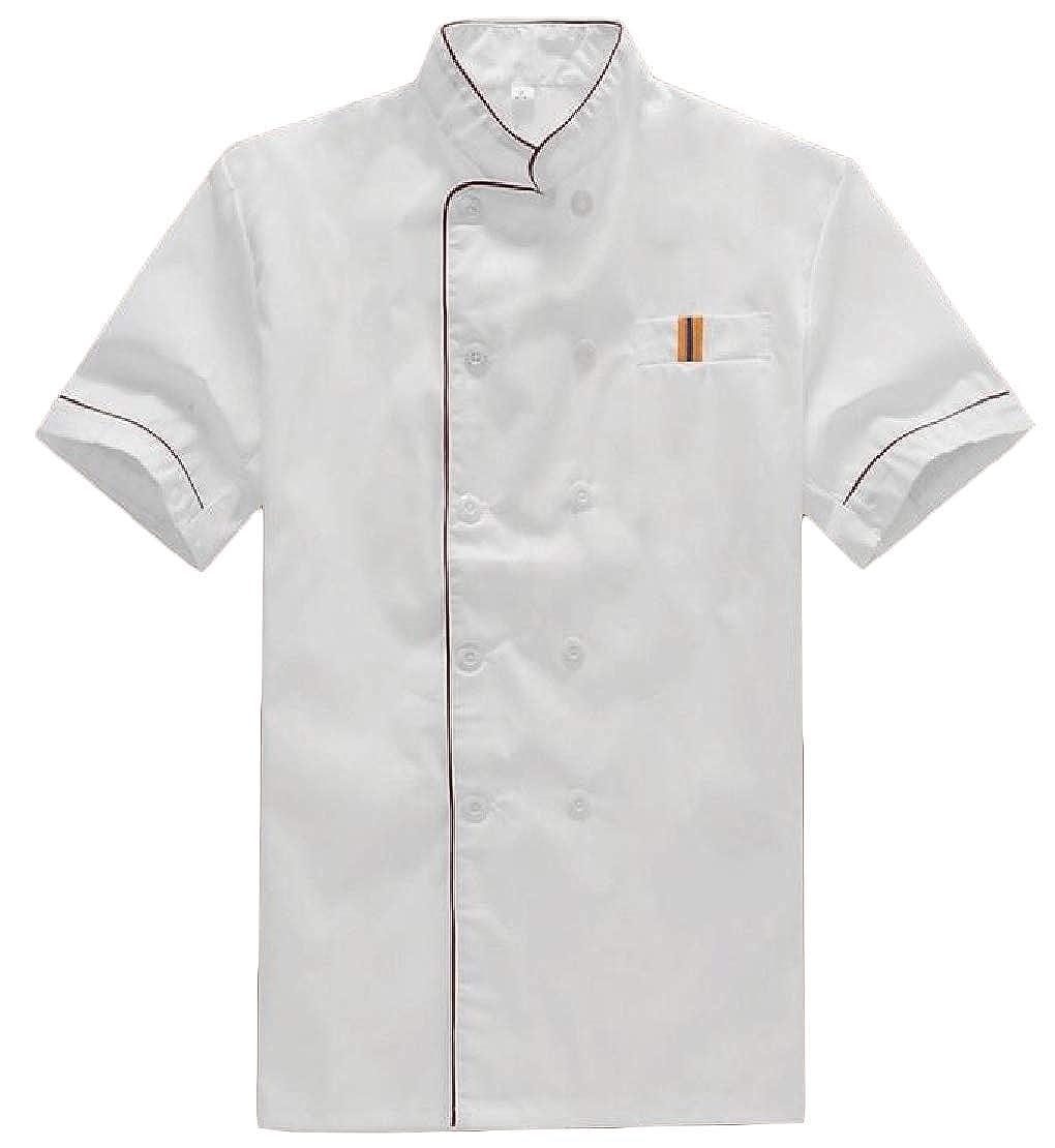 Amazon Com C H Men S Short Sleeve Restaurant Uniforms Coat