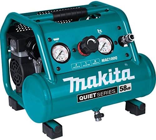 Makita MAC100Q Quiet Series 1/2 HP 1 Gallon Compact Oil-Free Electric Air Compressor