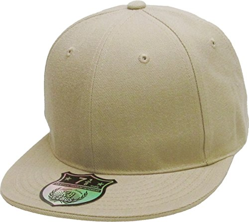 KBETHOS KNW-2364 KHK (7 5/8) The Real Original Fitted Flat-Bill Hats True-Fit, 9 Sizes & 20 Colors ()