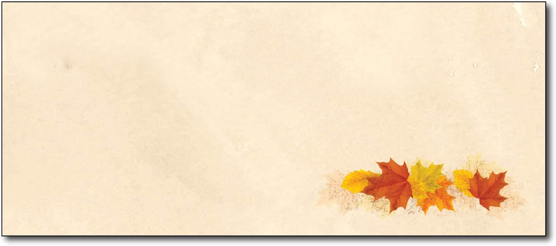 Simple Fall Leaves Decorative Mailing Envelopes - #10 Business Letter Size - 80 Stationary Envelopes