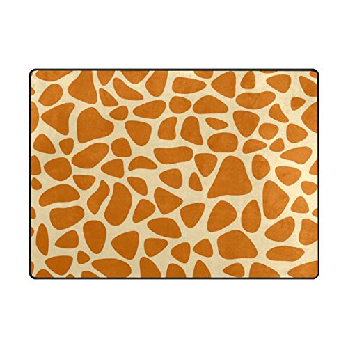 Modern Large Area Rugs for Bedroom Living Room Kids Room Home Collection,Giraffe Skin Texture Kids Area Rug for Home Decor Learning Soft Carpet 5'3