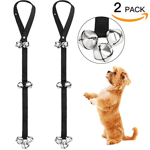 FOLKSMATE Dog Doorbells for Potty Training 2 Pack Potty Bells with 7 Extra Loud Bells Adjustable for Dog Training, Housebreaking