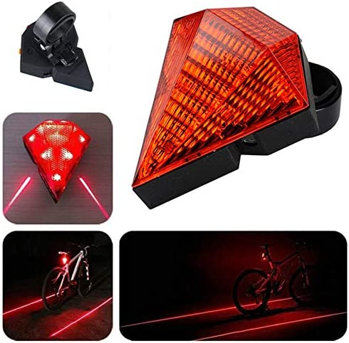 WINDFIRE Bike Tail Light Rechargeable Bike Safety Zone Read Light with 8 LED Light /& 2 Safety Lines for Any Mountain//Road Bicycles