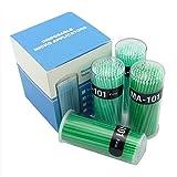 Doc.Royal Dental Disposable Micro Applicator Brush Bendable Fine Green Dia1.2 Mm (Green)400 Pcs