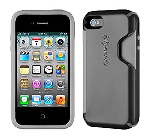 Speck Products CandyShell Card Case for iPhone 4/4S - 1 Pack - Carrying Case - Black/Dark Grey (Speck Iphone 4s Phone Case)