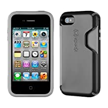 Speck Products CandyShell Card Case for iPhone 4/4S, Carrying Case - Retail Packaging, 1-Pack (Black/Dark Grey) (Discontinued by Manufacturer)