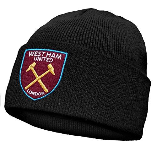Gorro niños negro West básico Ham Gorro club oficial FC el de United del punto Con Para básico escudo qwAwtgz