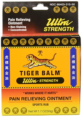 Tiger Balm Sport Rub Pain Relieving Ointment, Ultra Strength 1.70 oz (Pack of 4) - Red Ointment