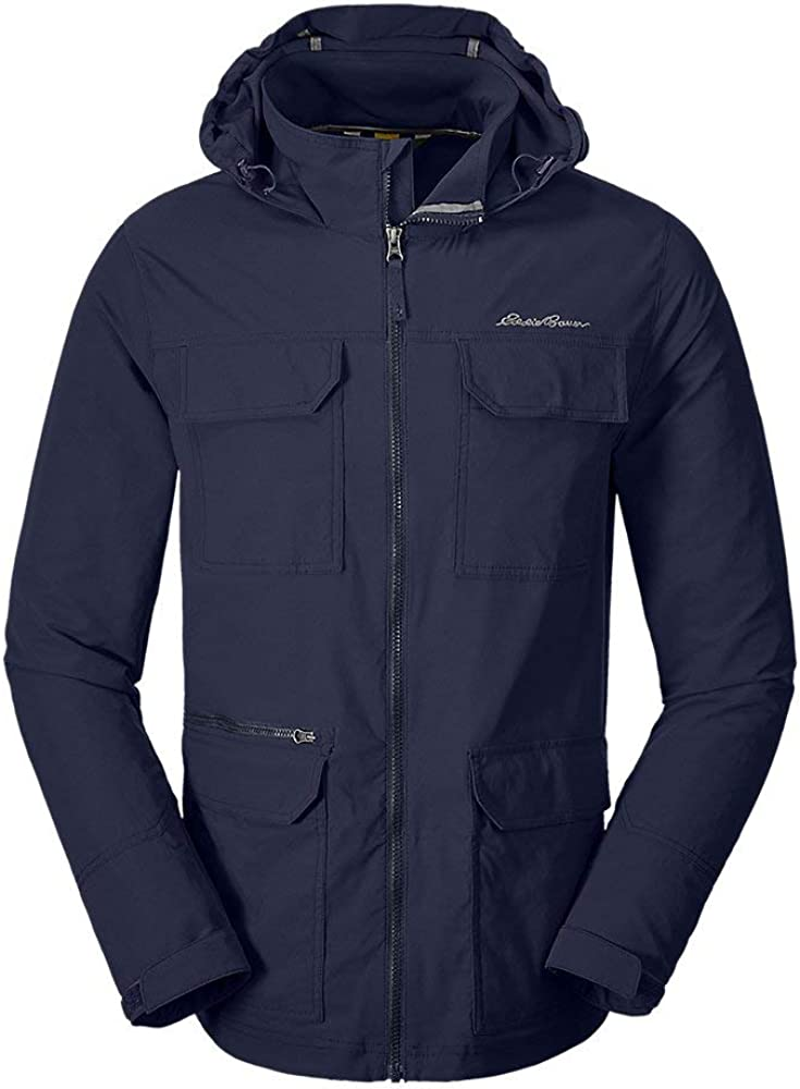 Eddie Bauer Men's Atlas Stretch Hooded Jacket, Atlantic Tall L