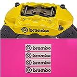 R&G Brembo 4 PISTON HIGH TEMP Brake Caliper Decals Sticker Set of 4 (Black MATTE)