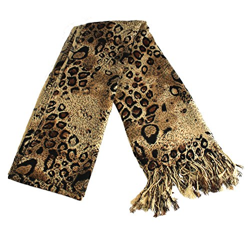 JSL Women Fashion Brushed Silk Scarf Soft Cashmere Feel Warm Shawl With Fringe - Geometric Silk Scarf Print