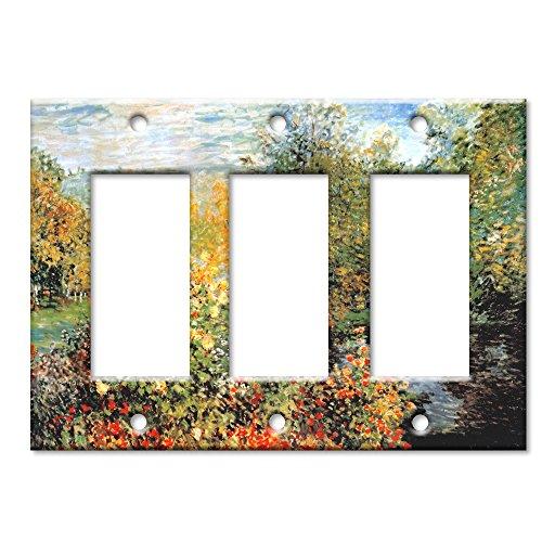 Monet: Stiller Winkle - Triple Rocker Switch Plate