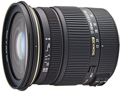 Sigma 17-50mm f/2.8 EX DC OS HSM FLD Large Aperture Standard Zoom Lens for Canon Digital DSLR Camera - International Version (No Warranty) (Best 17 50mm Lens For Canon)
