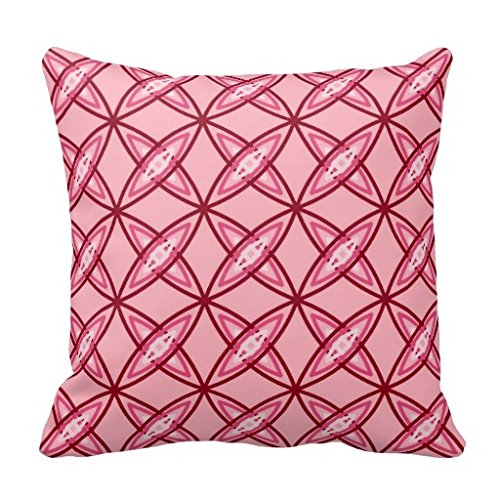 Price comparison product image Mid Century Modern Atomic Print Ballet Pink Throw Pillow Case
