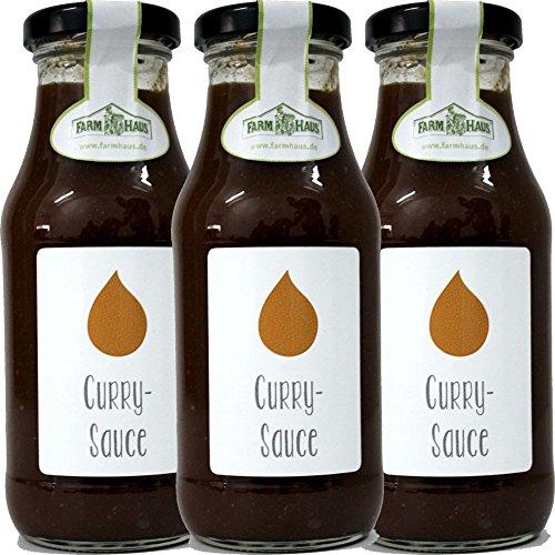 Farmhaus Curry-Sauce (3 x 250 ml Flasche)