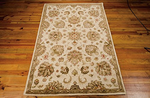 Nourison Jaipur (JA47) Ivory Rectangle Area Rug, 7-Feet 9-Inches by 9-Feet 9-Inches (7'9