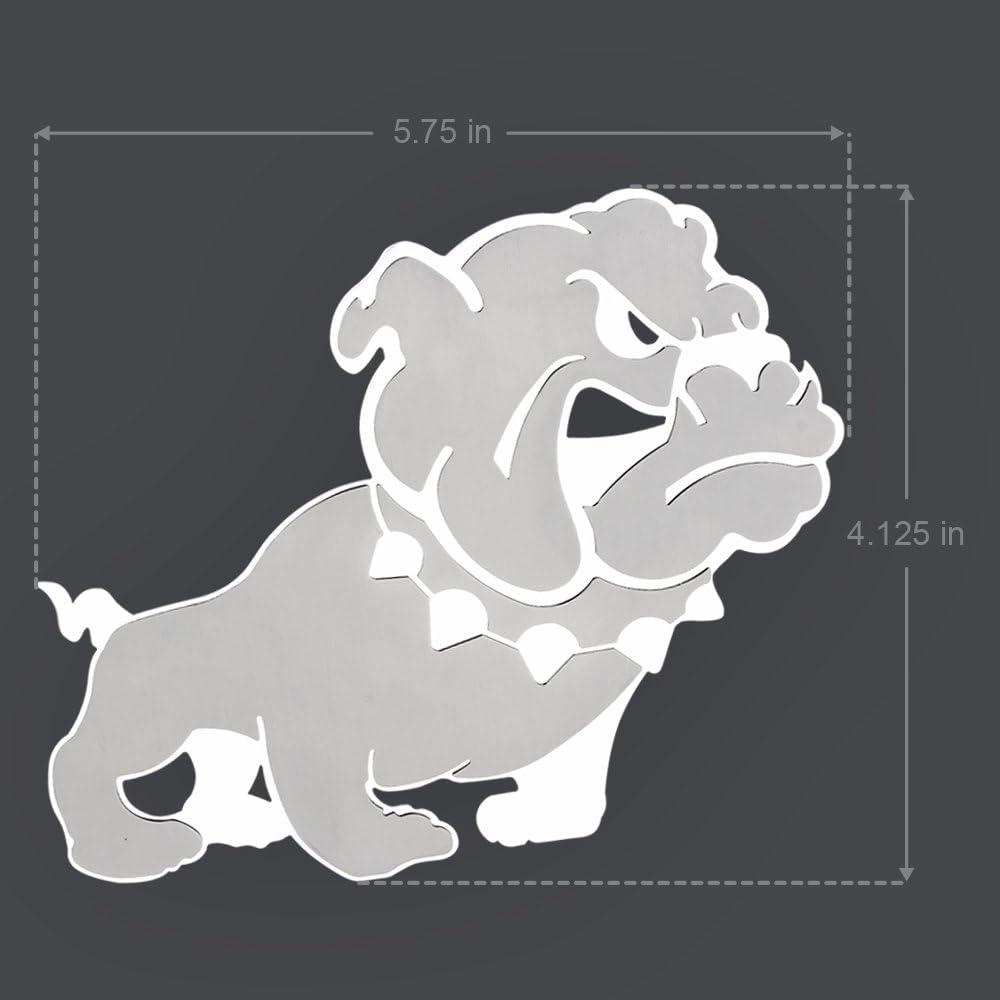 1 Piece 1 Pack Pilot Automotive Pilot IP-3051 Chrome Bulldog Emblem