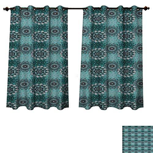 RuppertTextile Mandala Blackout Thermal Curtain Panel Hippie Oriental