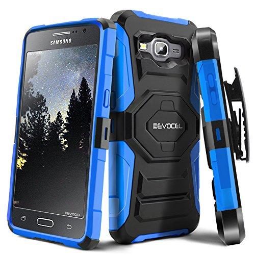 Galaxy Grand Prime Case, Evocel [New Generation Series] Belt Clip Holster, Kickstand, Dual Layer for Galaxy Grand Prime (G530 G530H G530F G530M G530T G530AZ S920C), Blue (EVO-SAMG530-XX02)