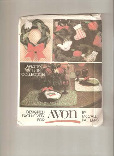 McCall's 5380 Holiday Crafts, Wreath, Ornaments, Placemats, Napkins, 10 Crafts Vintage Sewing Pattern (Mccalls Placemat)