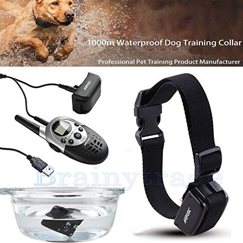 1000 Yard Waterproof Shock Vibra Remote Training Collar for Small Med Large Dog -