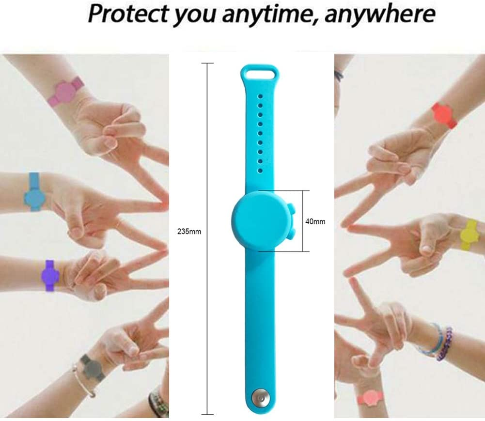 Juting Portable Sillicone Soap Bracelet Wristband Hand Sanitizer Dispenser Band with Squeeze Bottle 1Pcs Black
