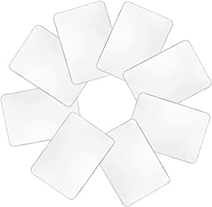 8 PCS Plastic Table Placemats,Washable Clear Placemats,Heat Resistant Washable Table Mats for Table,Dining,Kitchen(17 x 11 inch/43 x 28 cm)