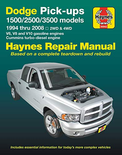 Dodge Pick-ups 1500, 2500 & 3500 models, 1994 thru 2008 Haynes Repair Manual: 2WD & 4WD - V6, V8 and V10 gasoline engines - Cummins turbo-diesel engine (Haynes ()