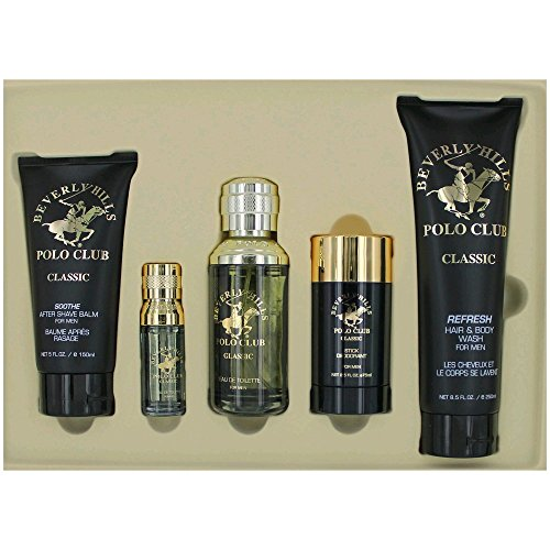 Beverly Hills Polo Club Classic by Beverly Hills Polo Club, 5 Piece Gift Set for Men