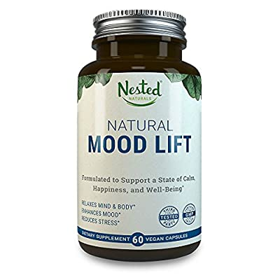 MOOD LIFT | Relaxation, Anti Stress and Anxiety Reduction Supplement | 60 Vegan Capsules for Natural Relief | Serotonin Enhancer Complex With 5-HTP 100mg, L-Methionine, Magnesium | Calm Booster Pills
