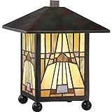 Quoizel TFIK6111VA Inglenook Mission Tiffany Lantern Table Lamp - 1-Light - 60 Watts - Valiant Bronze (11
