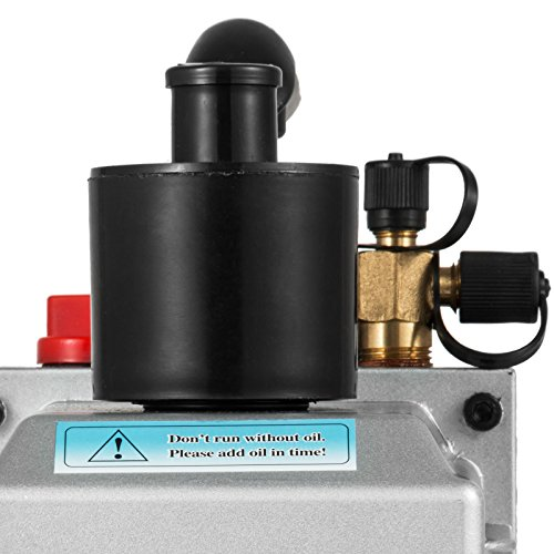 VEVOR Vacuum Pump 8CFM 1HP Two Stage HVAC Rotary Vane Vacuum Pump Wine Degassing Milking Medical Food Processing Air Conditioning Auto AC Refrigerant Vacuum Pump (2-Stage, 8CFM) by VEVOR (Image #7)
