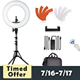 SAMTIAN LED Ring Light 14 inches Youtube Light 180 Dimmable LED Lighting Kit with 2M Light Stand, Cradle Head Work with SLR Camera and Smartphones for Video Shooting, YouTube Video, Portraiture