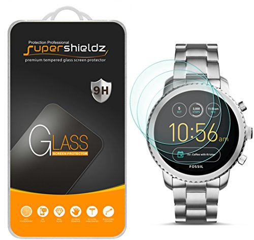 (3 Pack) Supershieldz for Fossil Q Explorist Gen 3 Tempered Glass Screen Protector Anti Scratch, Bubble Free