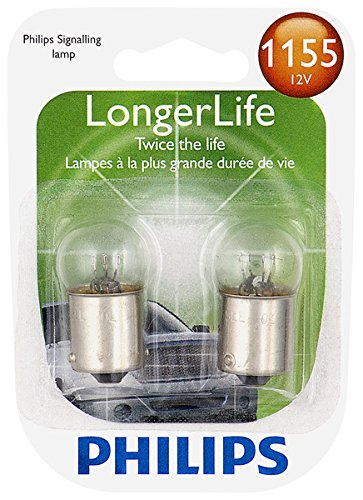 Philips 1155 LongerLife Miniature Bulb, 2 Pack