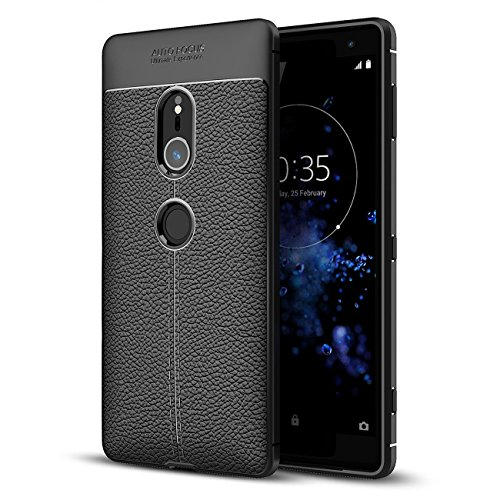 Sony Xperia XZ2 case, Taorey Ultra Thin and Slim - Shockproof Drop Protection - Anti Slip and Scratch - TPU Leather TexturedScratch-Resistant For Sony Xperia XZ 2 case 2018 (Black)…