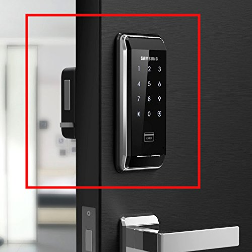 Samsung SHS-2920 EX Smart Door Lock + 6 RF KeyTags, English Interface & Manual, Applicable Door Thickness 38-80mm