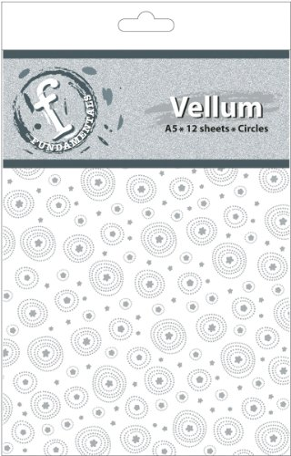 Ruby Rock-It Fundamentals A5 Vellum Sheets, 8.3 by 5.8-Inch, Circles, 12-Pack