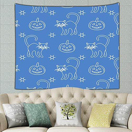 zhufeifan Halloween 2019 Pumpkins Holidays Tapestry Wall Tapestry Bohemian Wall Hanging Tapestries Wall Blanket Wall Art Wall Decor Beach Tapestry Tapestry Wall Decor 50ʺ × -