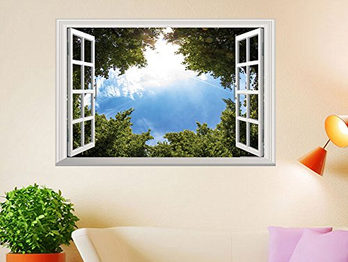 Wall Decal 3d Mural a Corner Removable Wall Stickers-60 x 90cm - 2