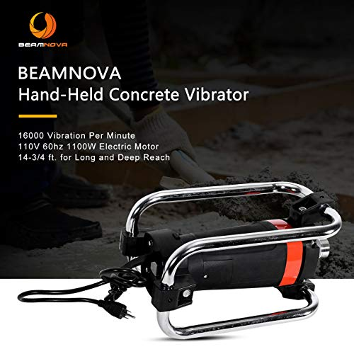 BEAMNOVA Hand Held Electric Concrete Vibrator 16000 VPM 60 HP w/14-3/4 FT. Long Shaft ()