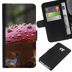 Ihec-Tech / Flip PU Cuero Cover Case para Samsung Galaxy S6 EDGE SM-G925 - Plant Nature Forrest Flower 107